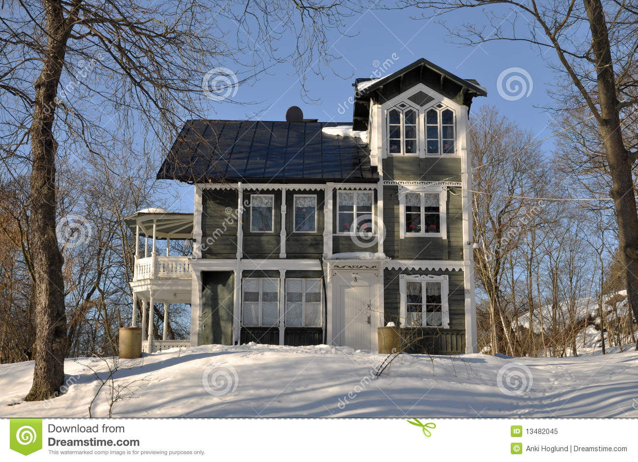 Old classic style house royalty free stock photo image for Traditional swedish house plans