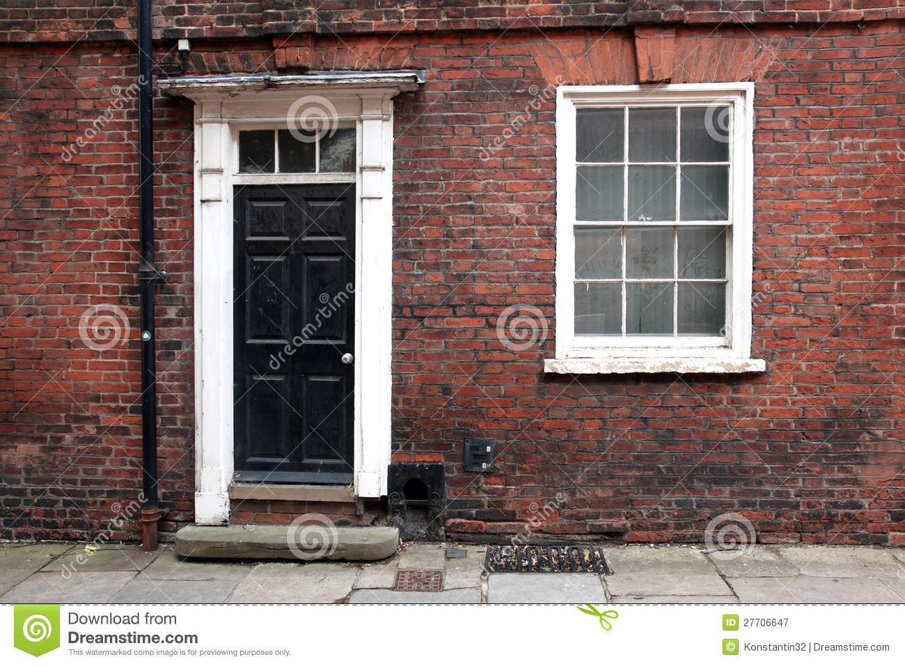 Old Classic Victorian Door Stock Image Image Of Paint