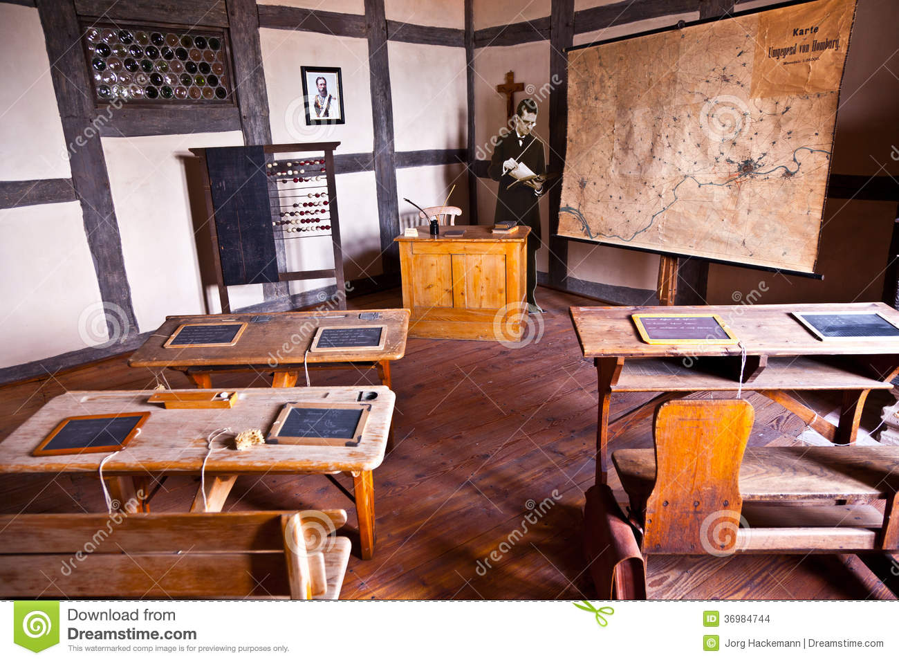 Classroom Design Themes ~ Old classroom editorial stock image