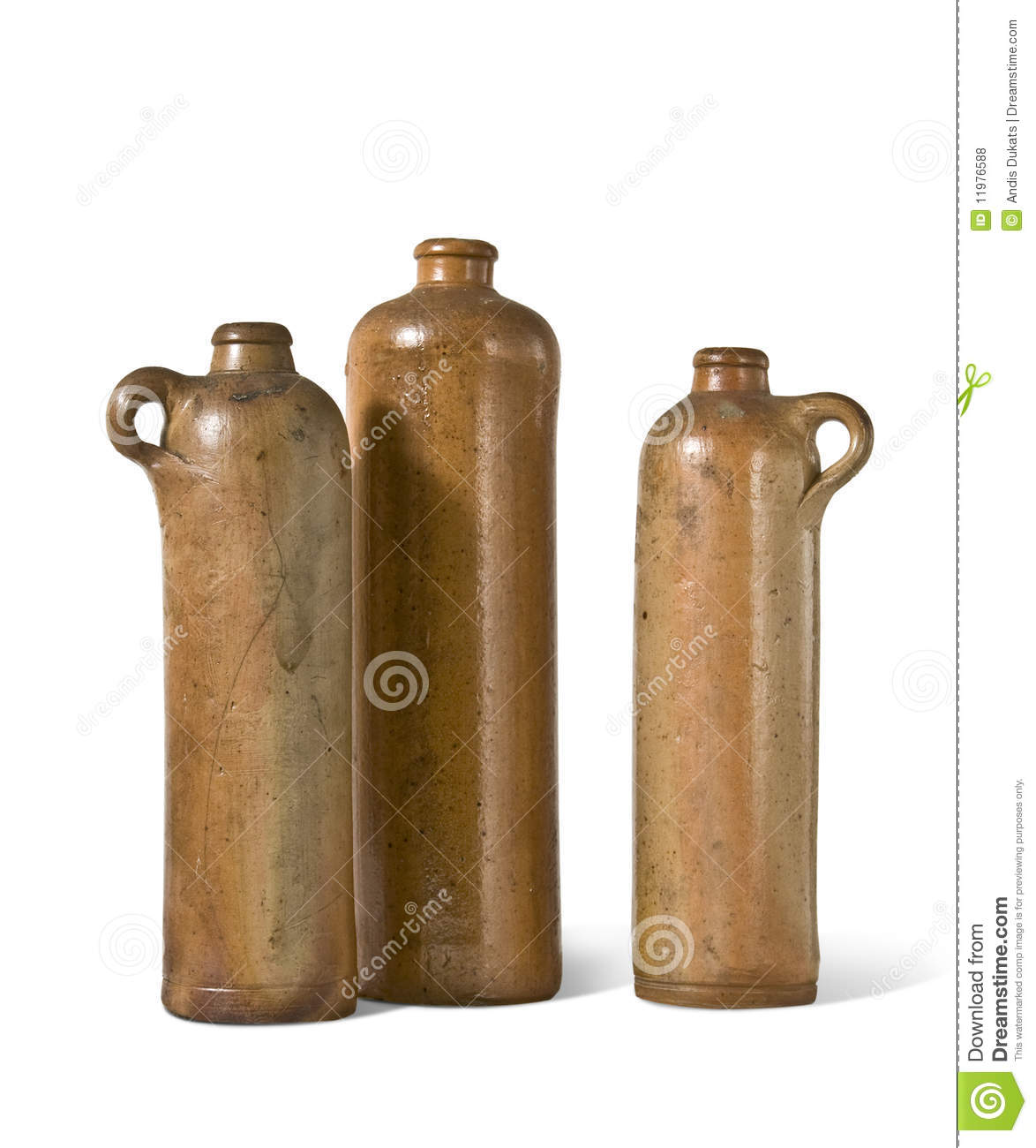 Old clay bottles