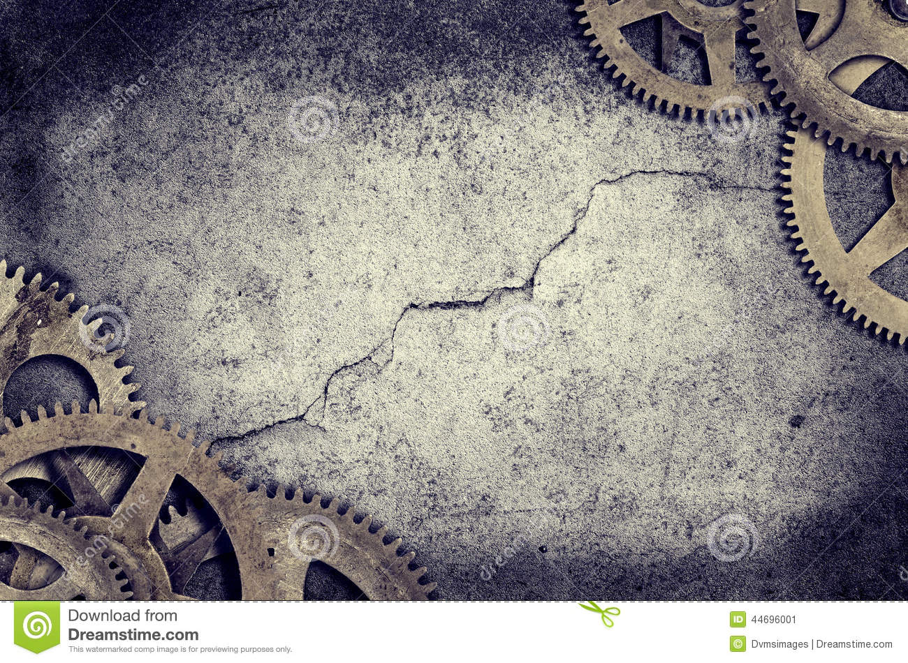 Old Clock Cogs Border Stock Photo Image 44696001