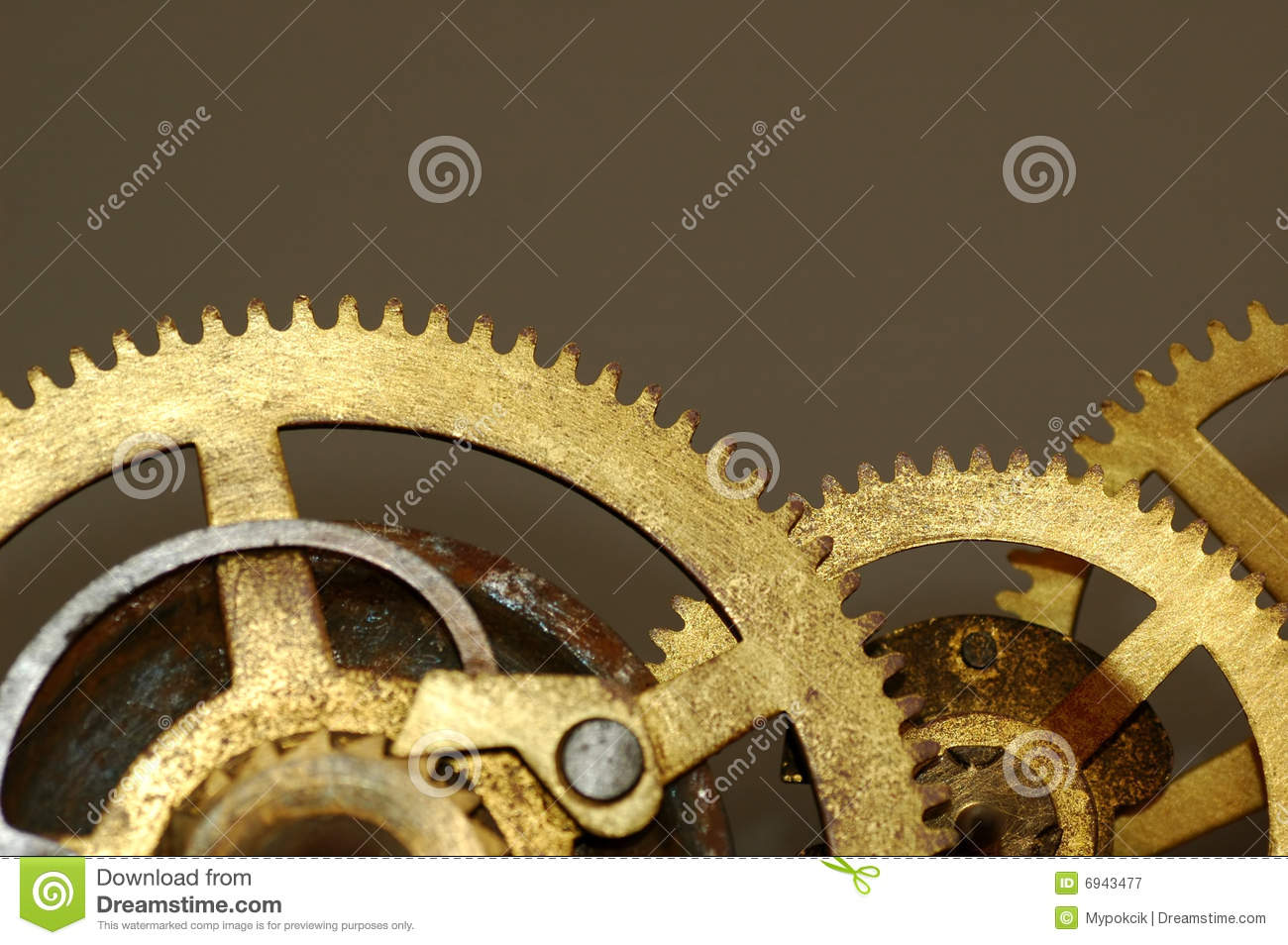 Old Clock Gears : Old clock gears royalty free stock photography image