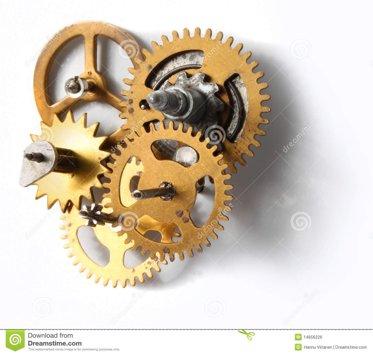 Old Clock Mechanism Royalty Free Stock Image Image 14656226