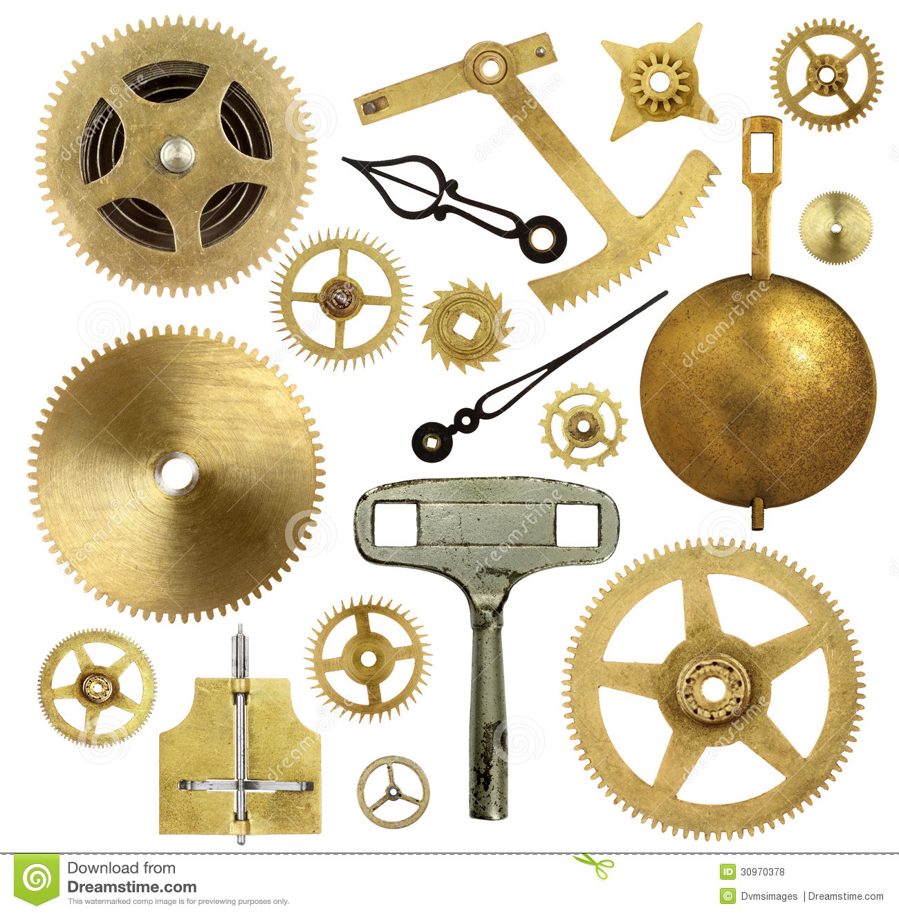 Old Clock Parts Stock Photo Image Of Technology