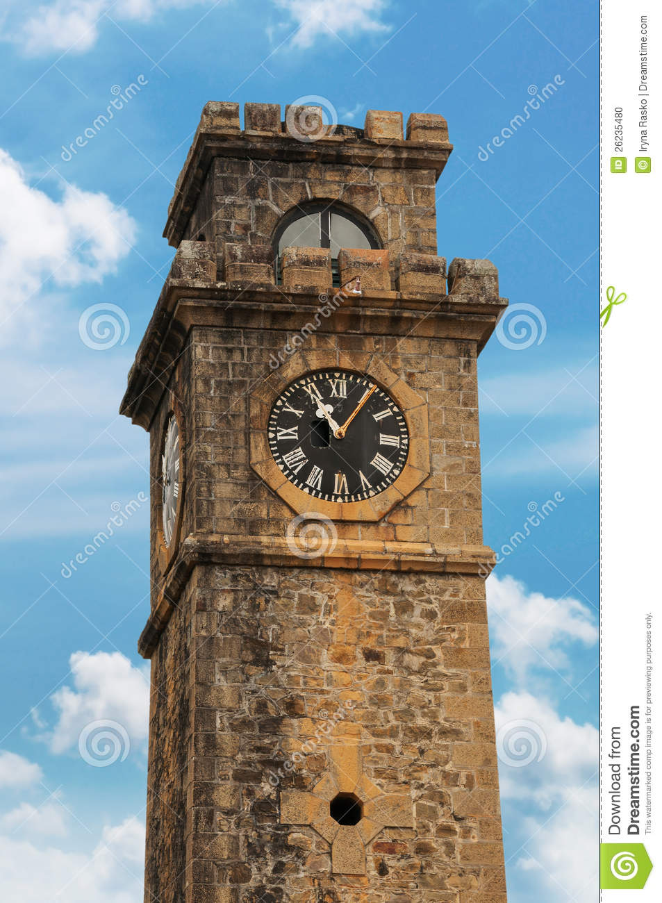 Old Clock Tower Stock Photo Image Of Fortress Hour