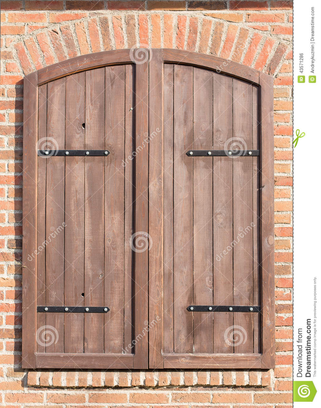 Wood Shutters Closed : Old closed window shutters stock photo image