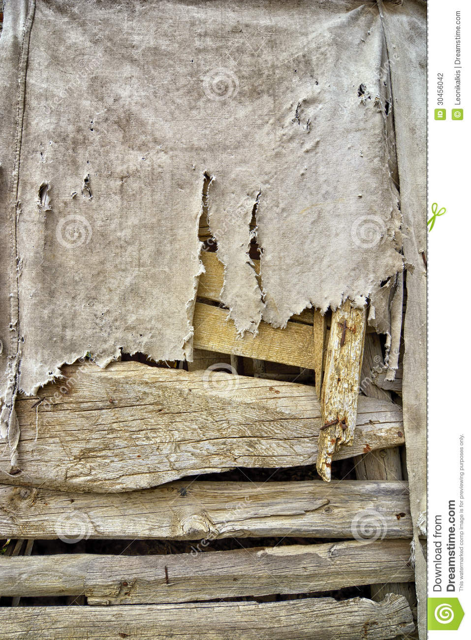 Old Cloth On Wood Stock Photography Image 30456042