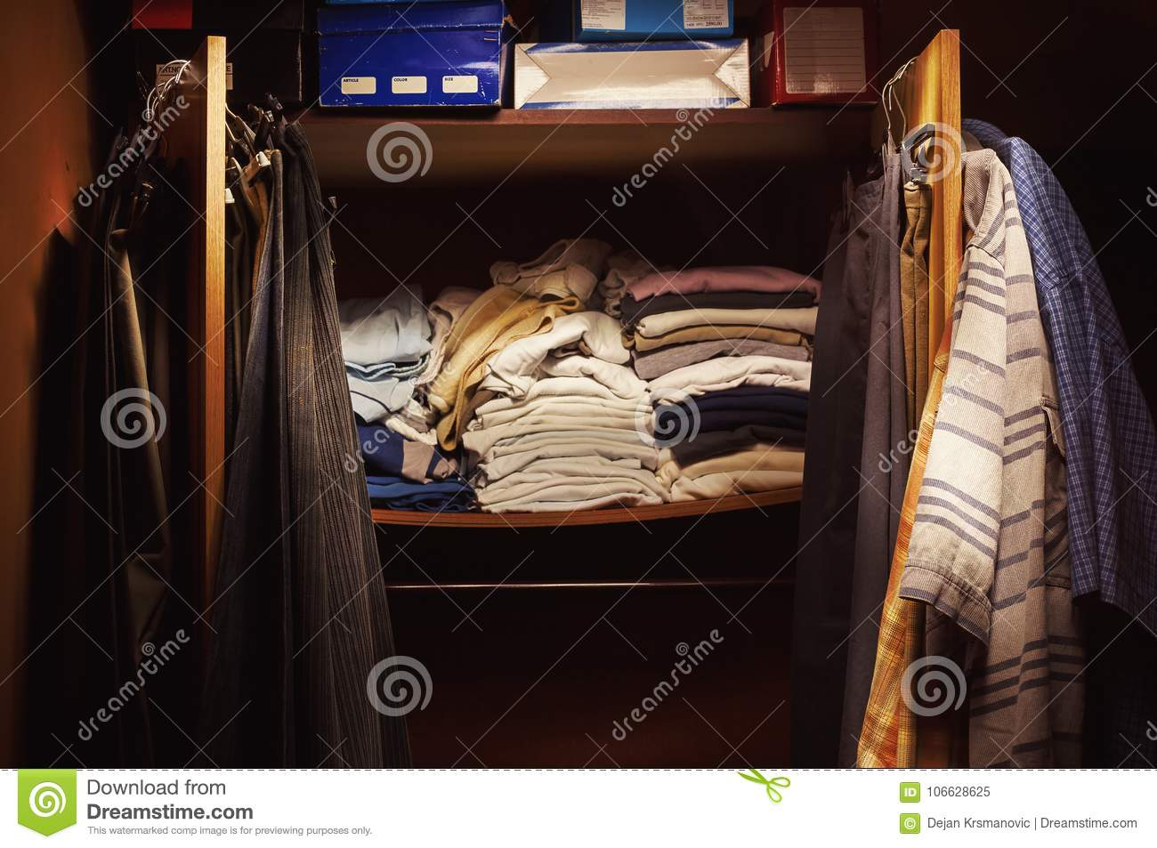Old Clothes on Closet