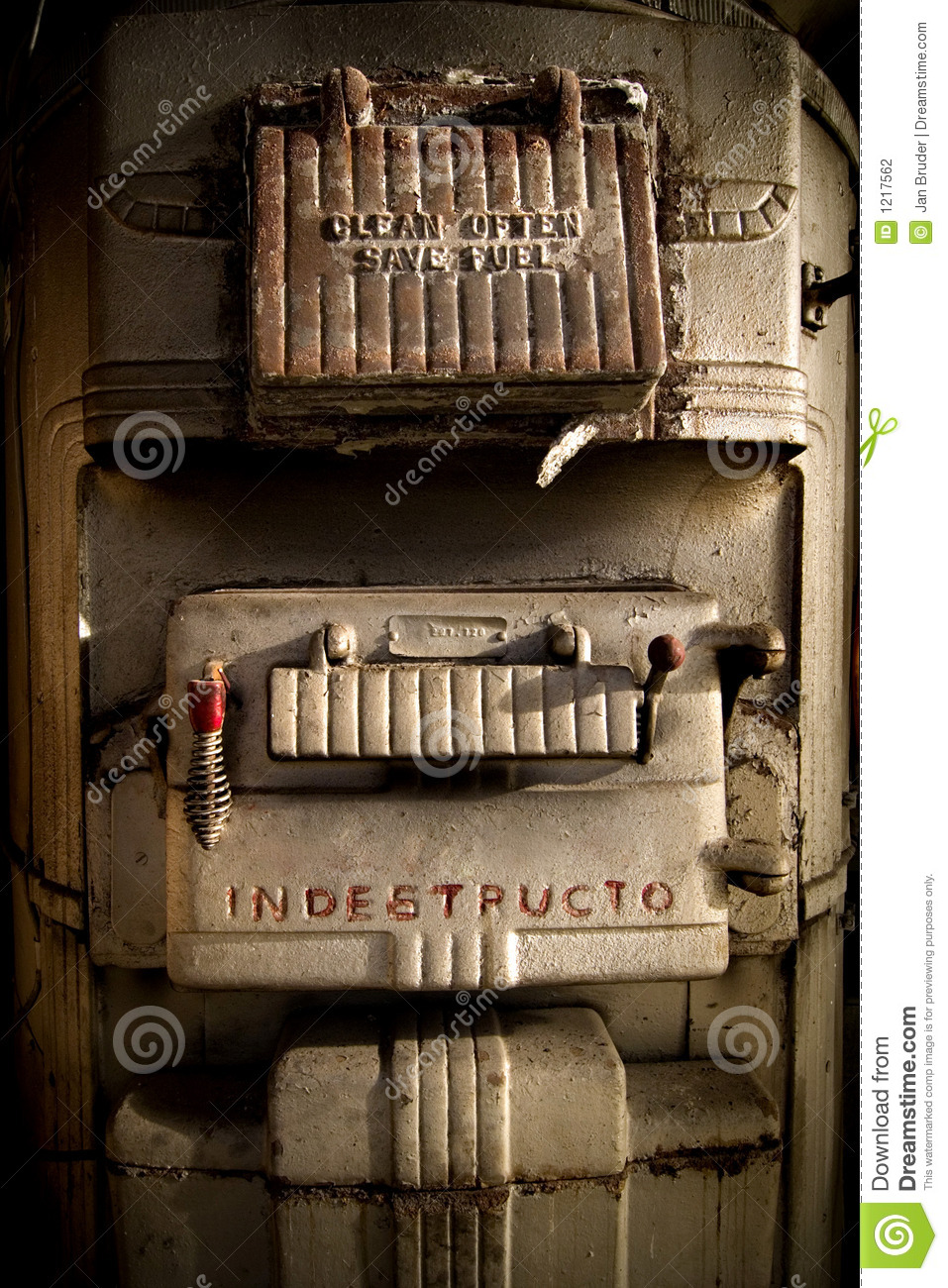 Old Coal Furnace Stock Photography Image 1217562