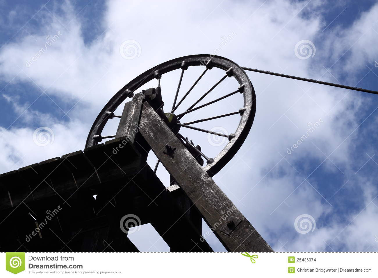 Download Old Coal Mine Shaft Tower B Stock Photo - Image of coal, steel: 25436074