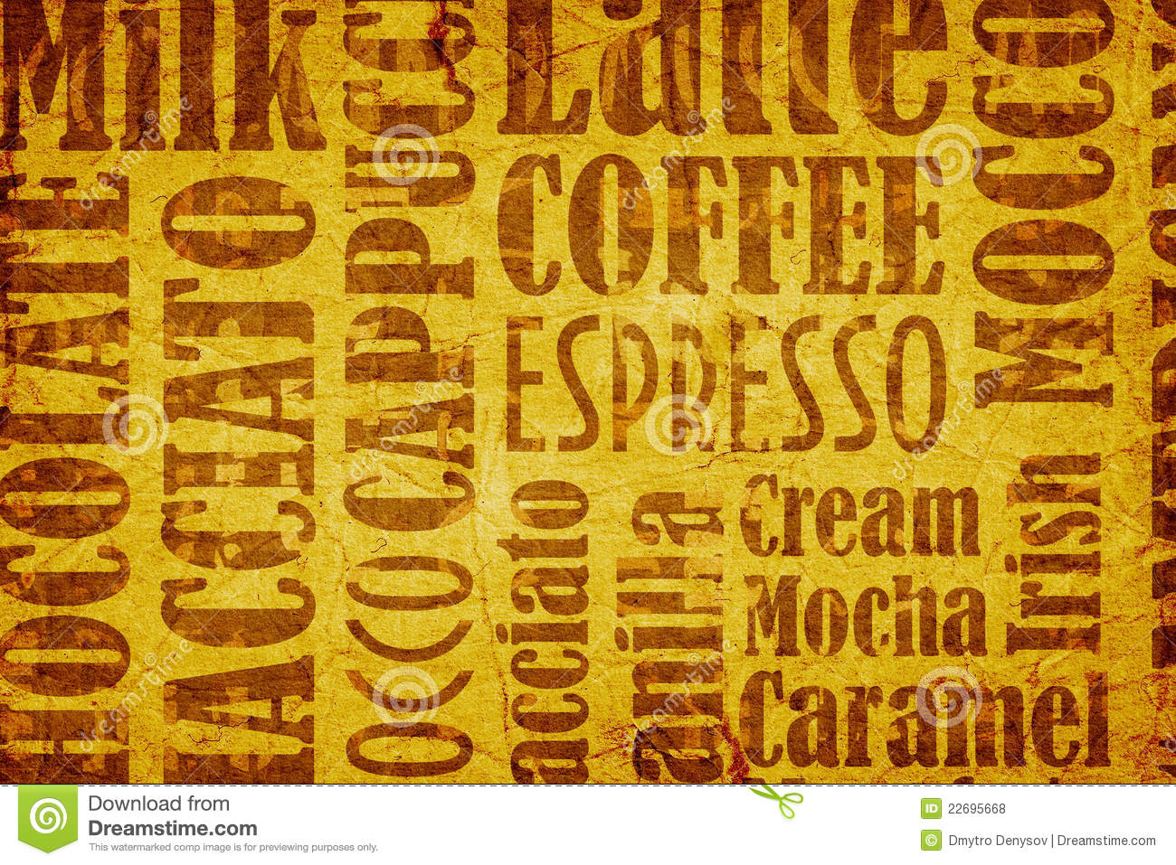 Old coffee background