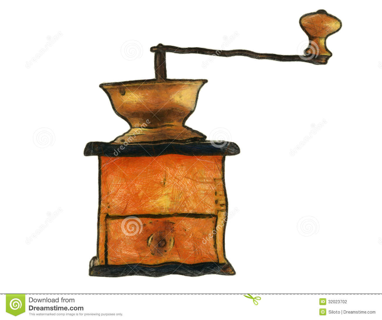 Coffee Grinder Drawing ~ Old coffee grinder stock photography image