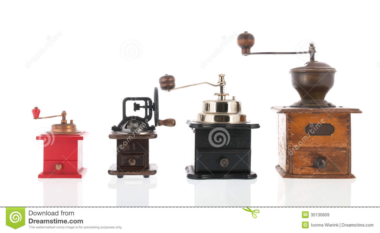 Doral Designs Coffee Maker With Grinder And Timer : Old Coffee Grinders Royalty Free Stock Images - Image: 35130609