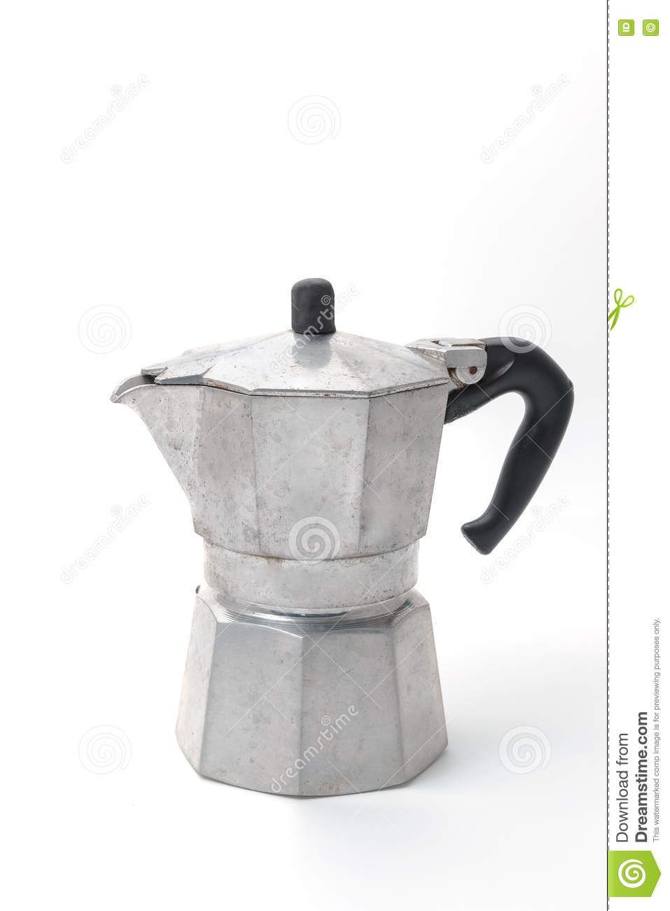 Old Coffee Maker In Vintage Style Isolated Stock Photo - Image: 80834936