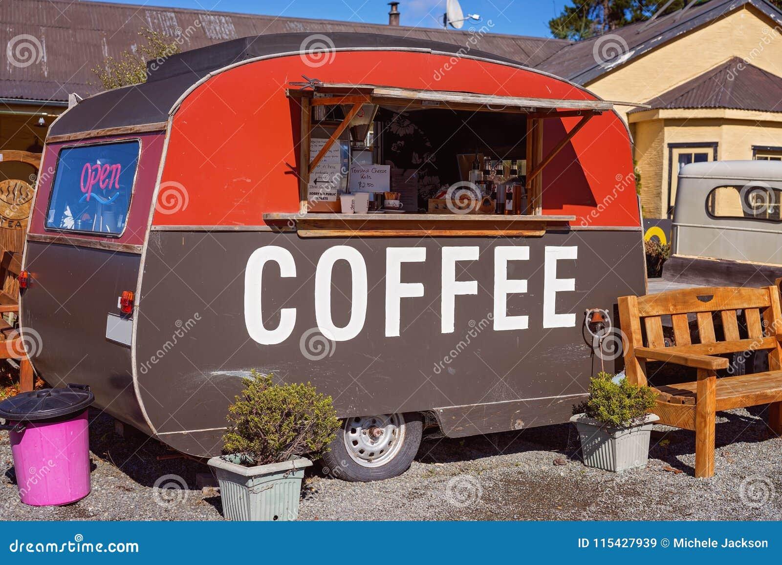 Old Coffee Van Roadside In Νέα Ζηλανδία