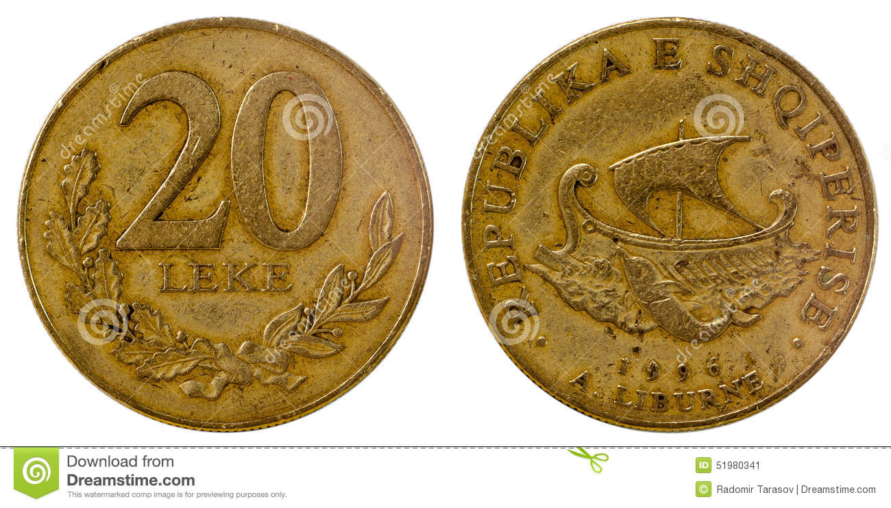 Old Coin Of Albania Stock Photo Image 51980341