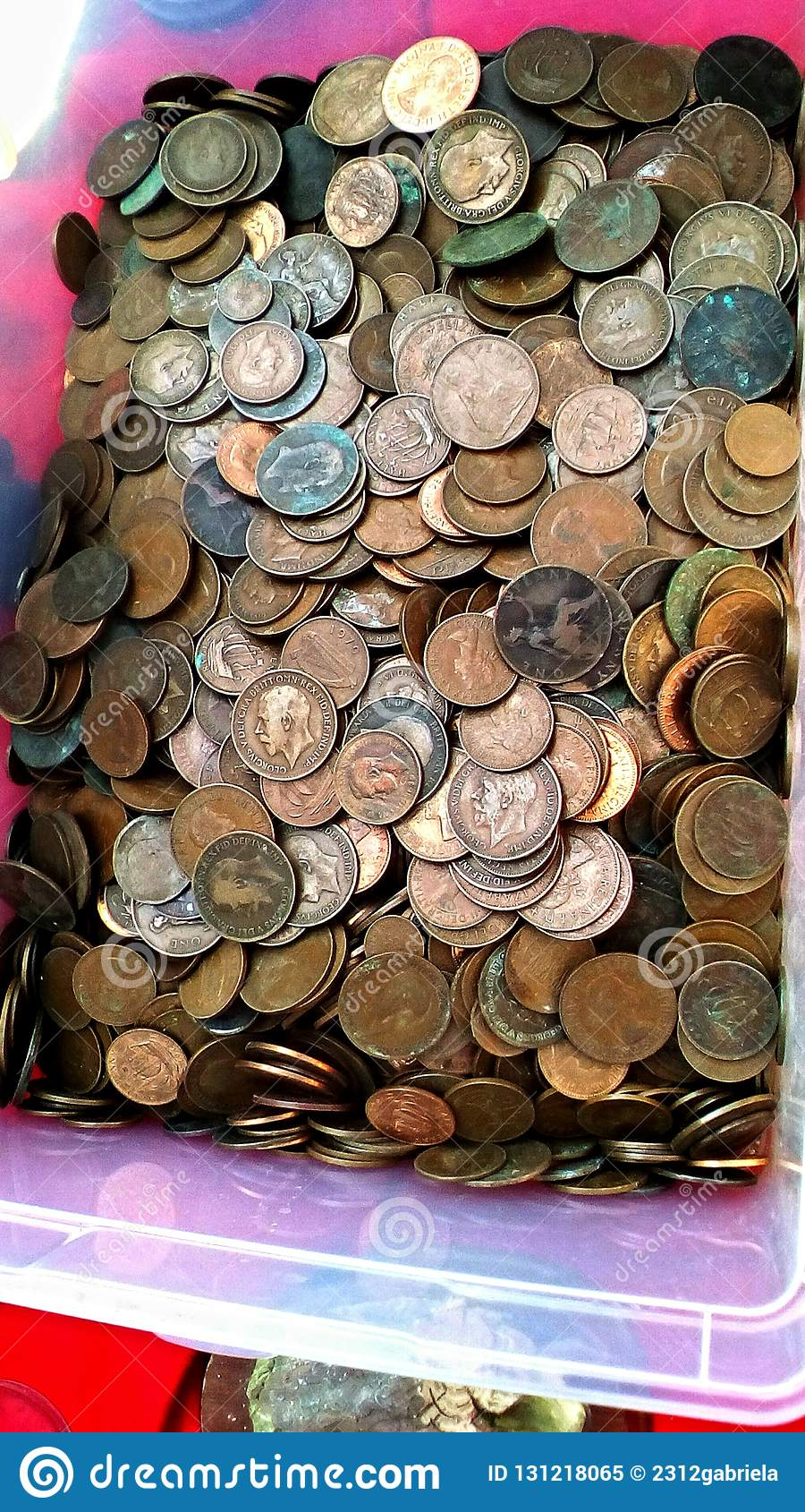 Old coins stock image  Image of plastic, many, museum