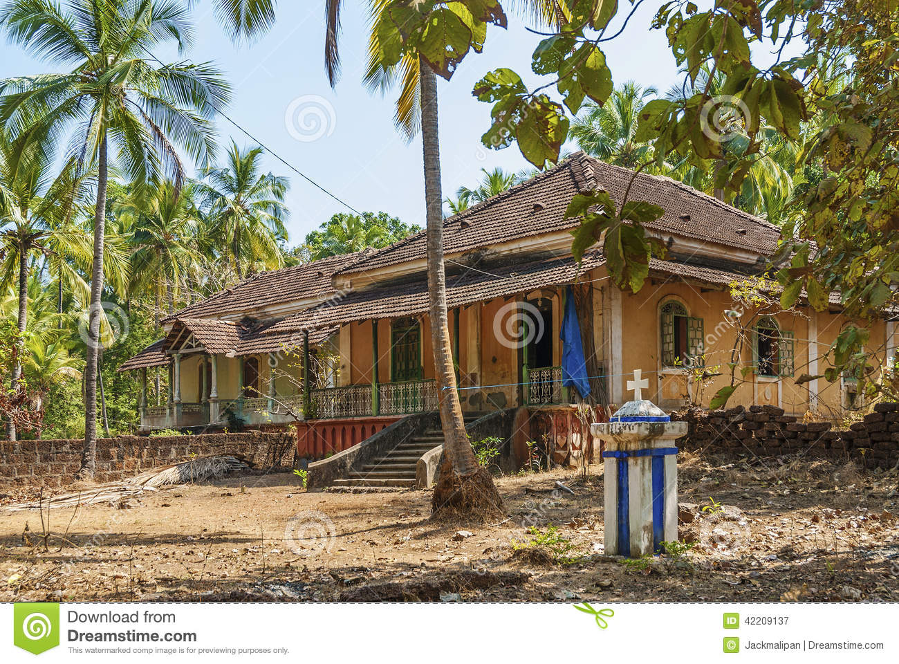 Old Colonial Houses In Goa India