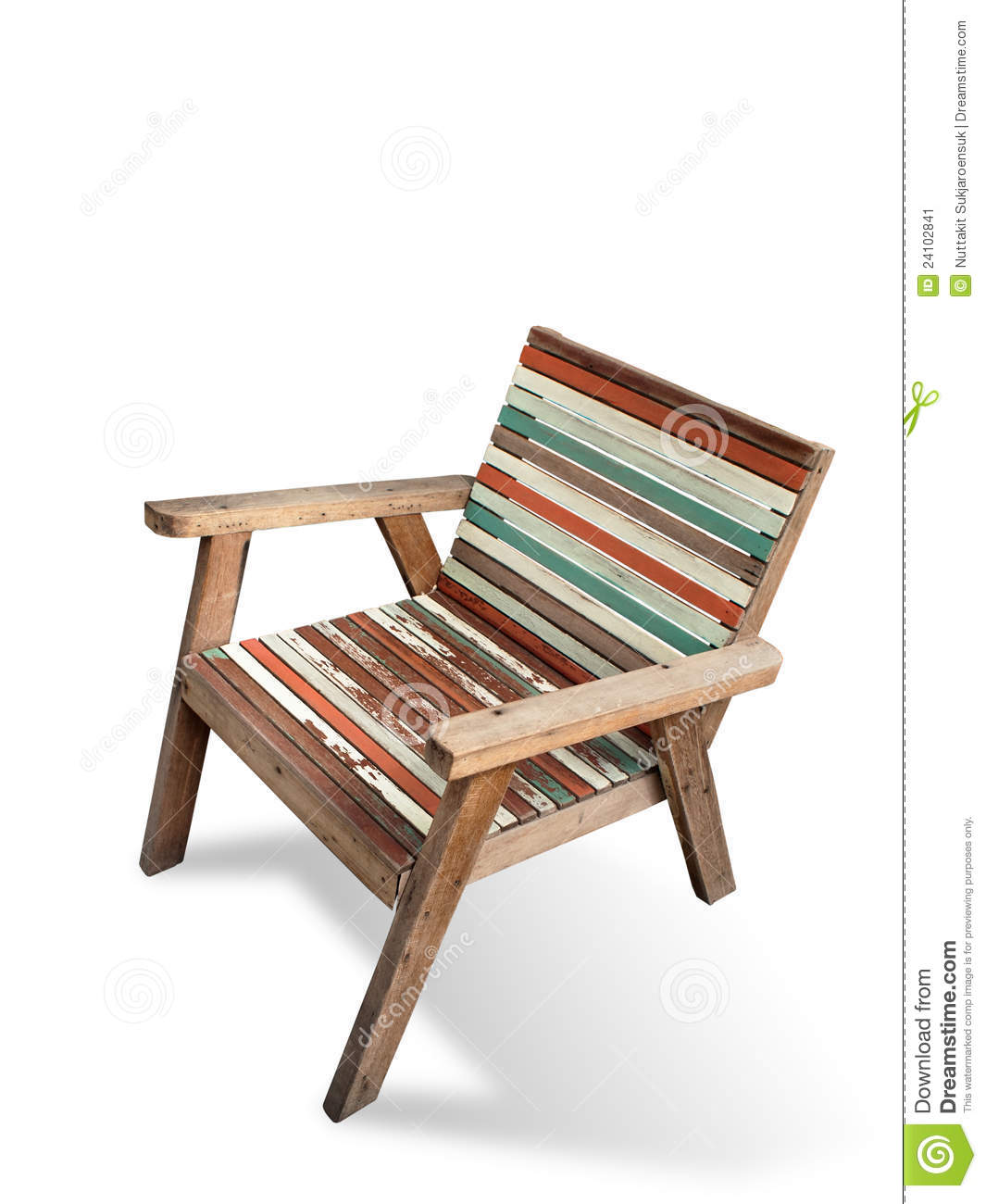 Old Color Wood Arm Chair Stock Image Image: 24102841. Full resolution‎  photograph, nominally Width 1065 Height 1300 pixels, photograph with #A0462B.