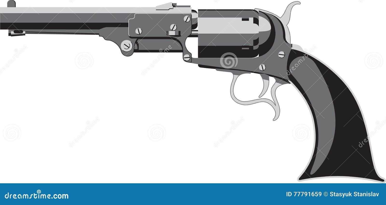 Old Colt Revolver stock vector  Illustration of object