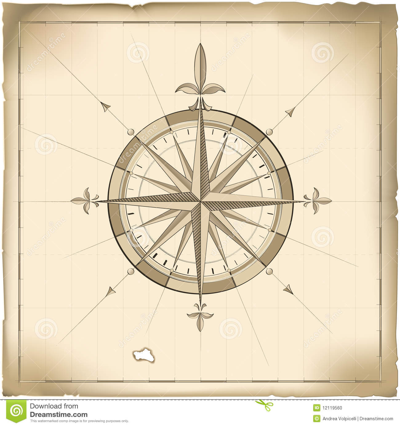 Old Compass Stock Illustration Image Of Position Lost