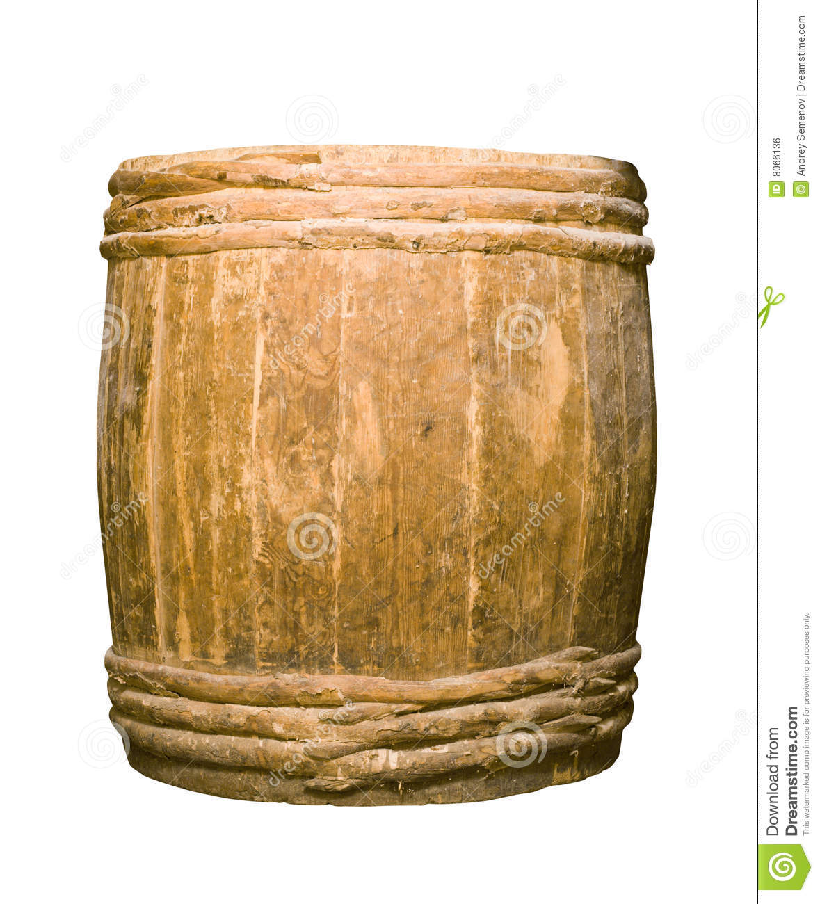 Old Completely Wooden Barrel Royalty Free Stock Image - Image: 8066136: dreamstime.com/royalty-free-stock-image-old-completely-wooden...