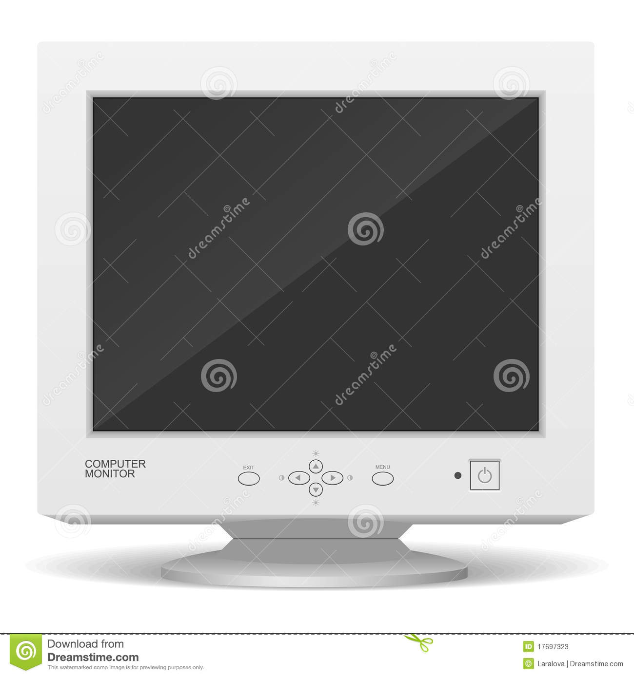 Old Computer Monitor Stock Photos Image 17697323