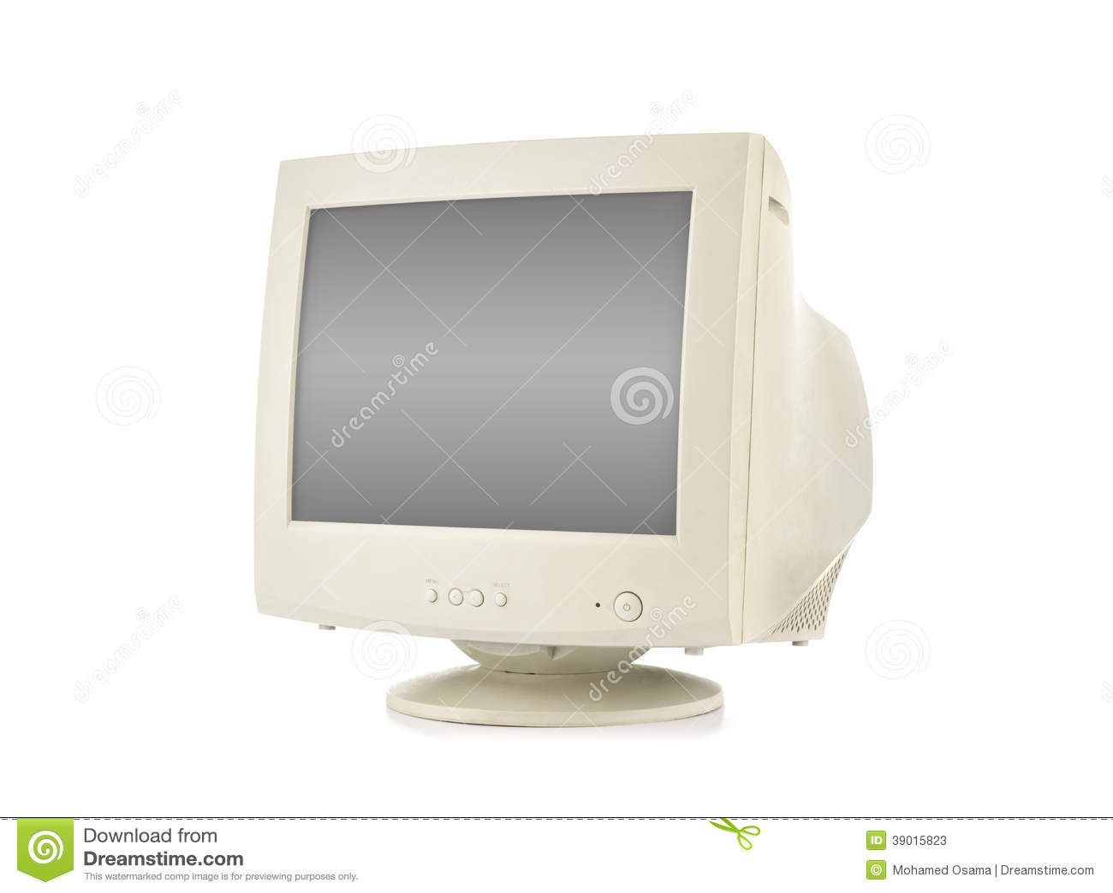 Old Computer Monitor Stock Photo Image 39015823