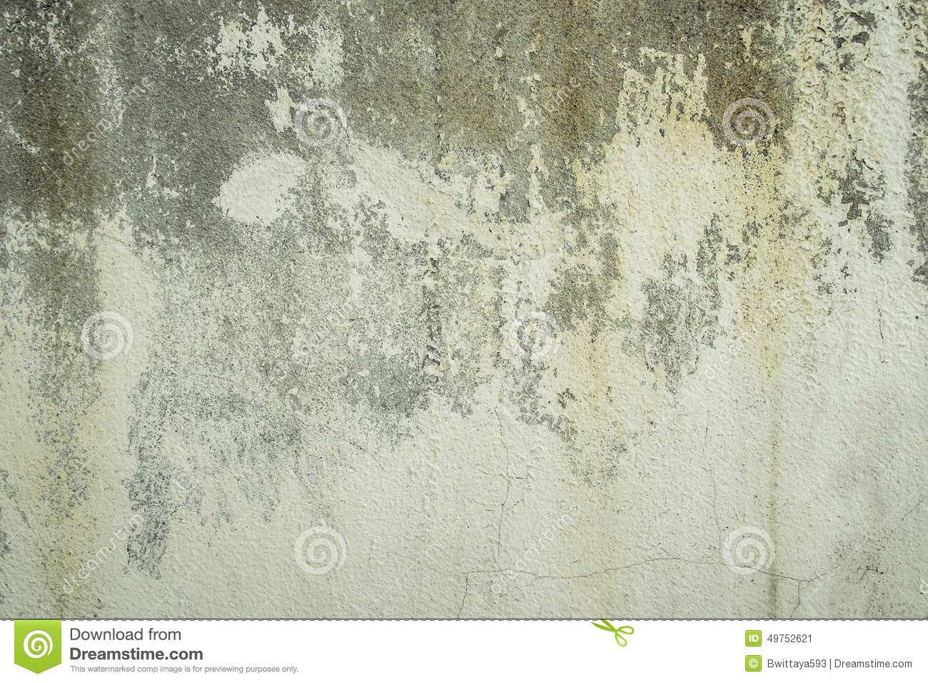 Old Concrete Wall With Peeling Paint Stock Image Image 49752621