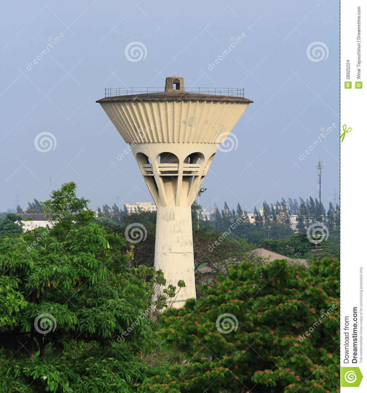 Water Tank Tower Stock Images - Image: 29925224