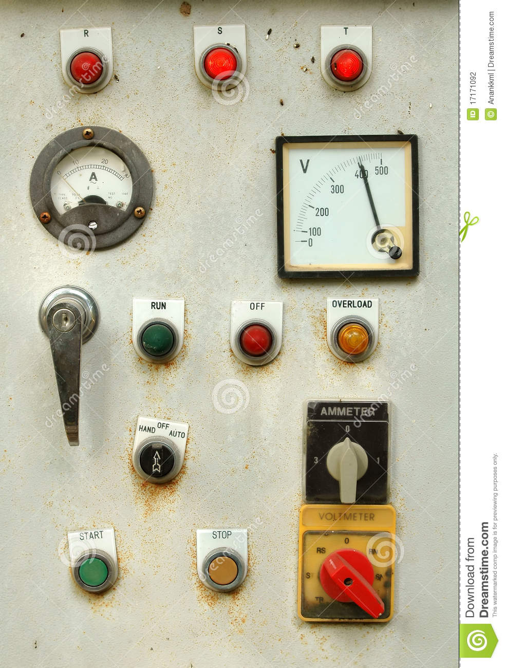 Old Control Panel Levers : Old control panel stock photo image of energy industry