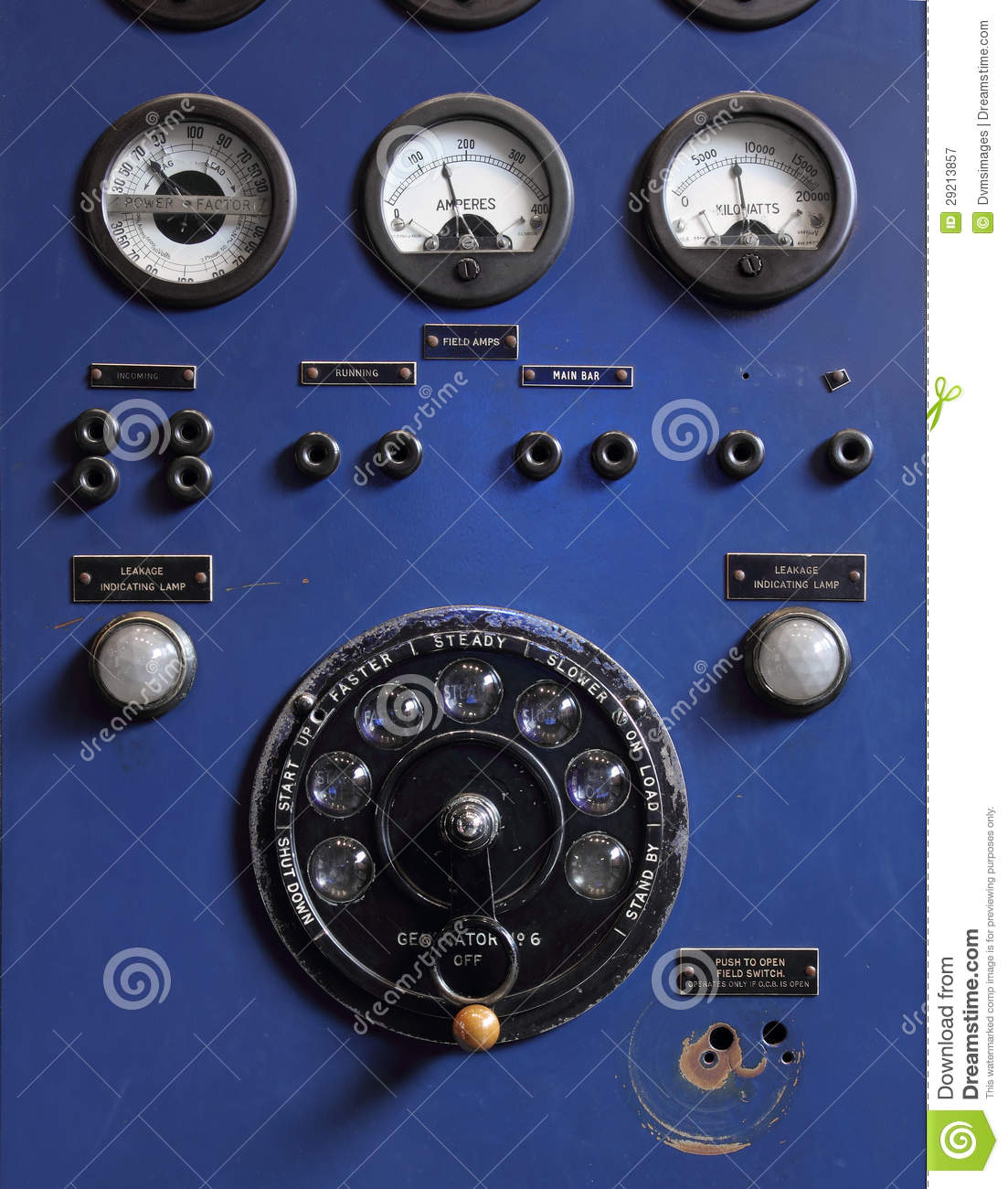 Old Control Panel Levers : Old control panel royalty free stock photography image