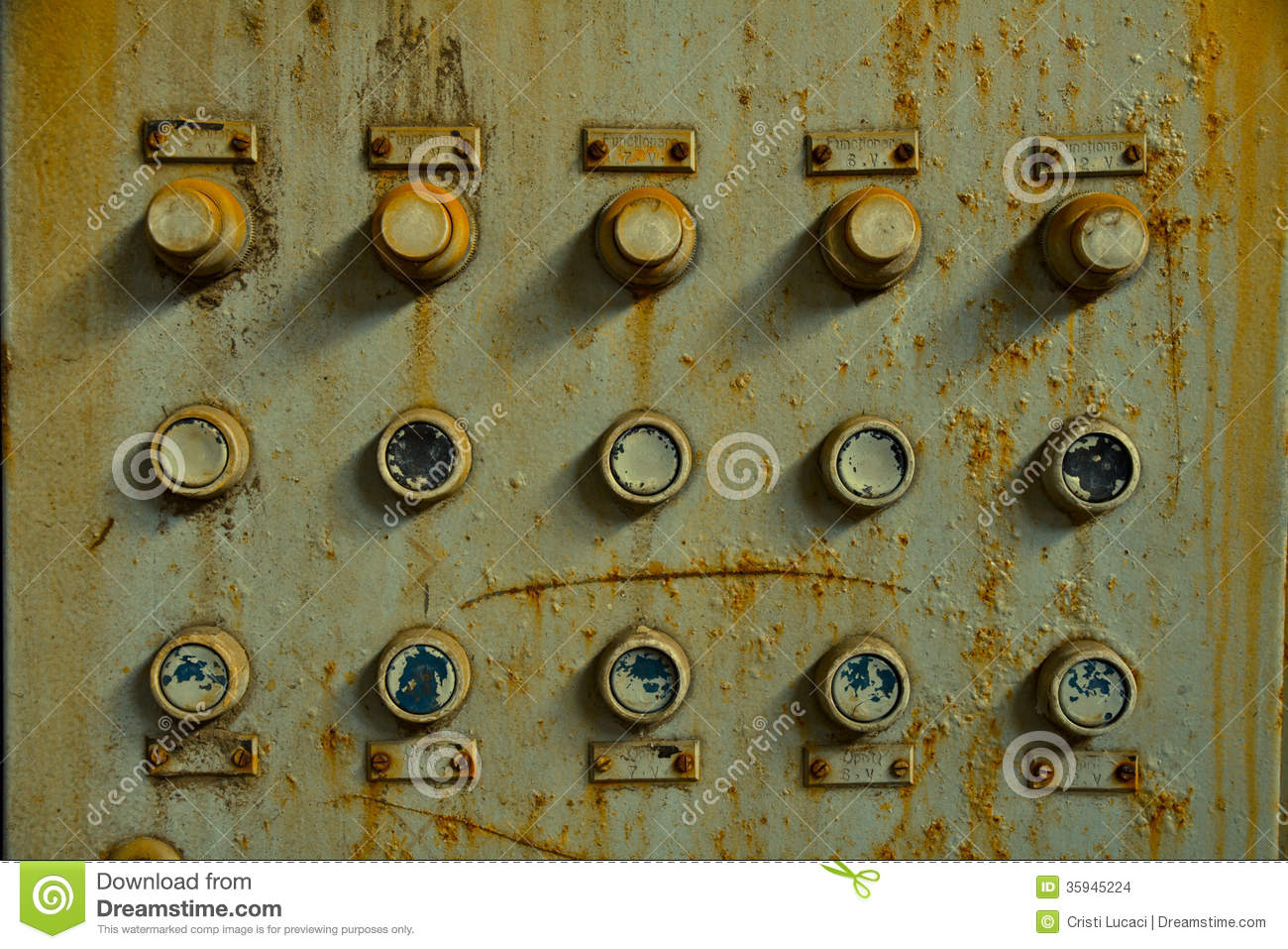 Old Control Panel Stock Photo Image Of Electrical Metal