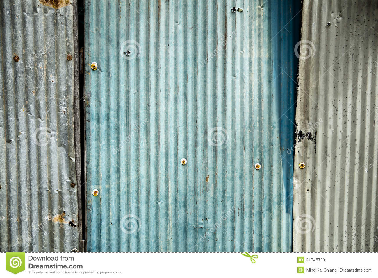 Old Corrugated Fence Background Stock Photo Image 21745730