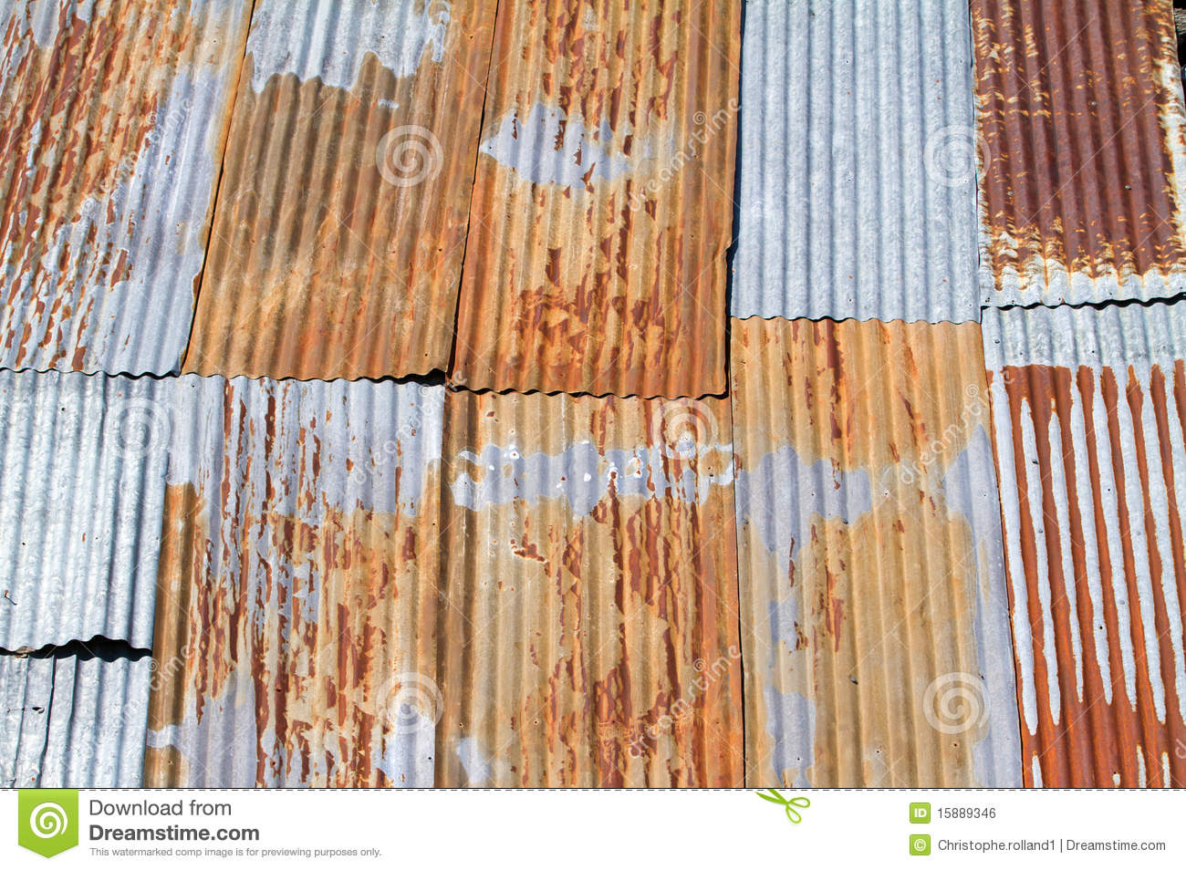 Old Corrugated Metal Roof Stock Illustration Image Of