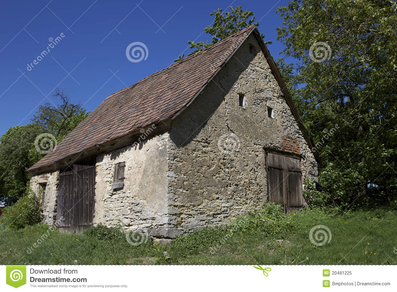 Old Cottage 2 Stock Image Image Of Barn Tree Peace
