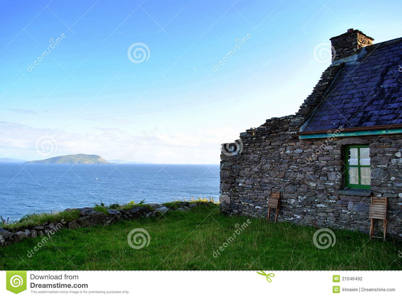 Old Cottage By The Sea Stock Photo Image Of Window Ring