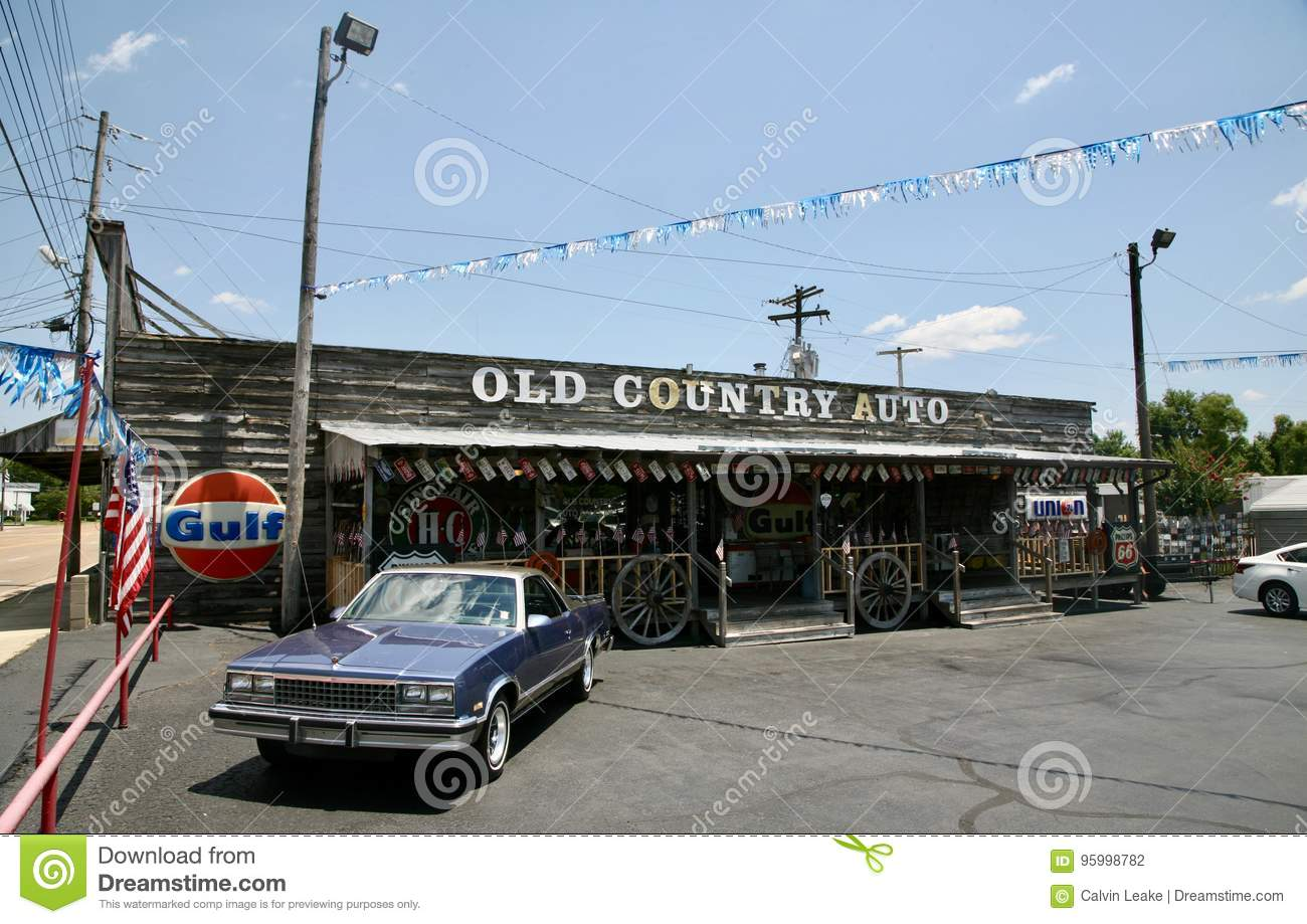 Old Country Auto Jackson Tennessee Editorial Photography Image