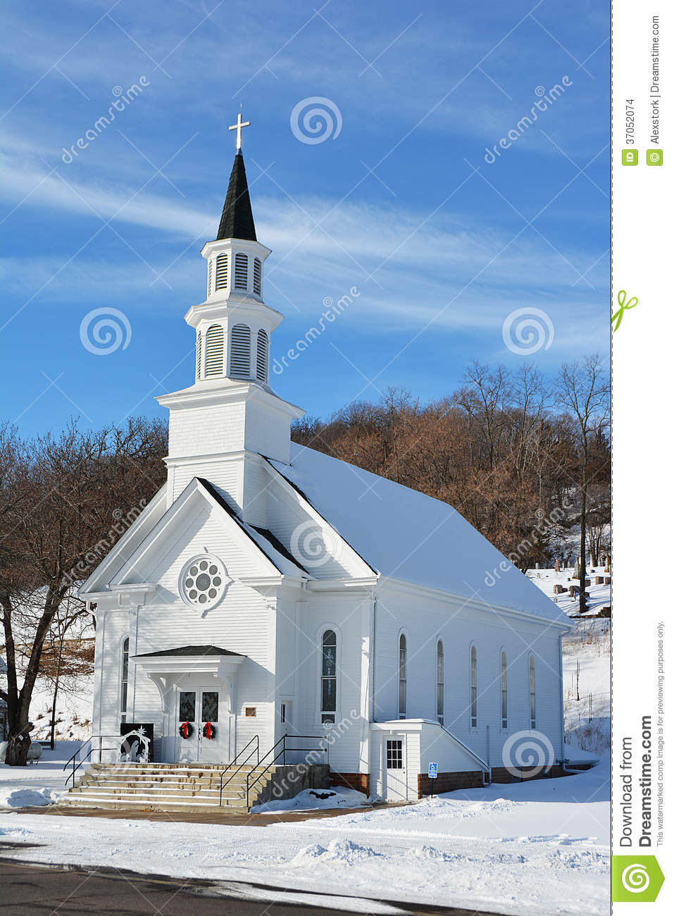 Download Old Country Church 2 Stock Photo Image Of Blue Cross