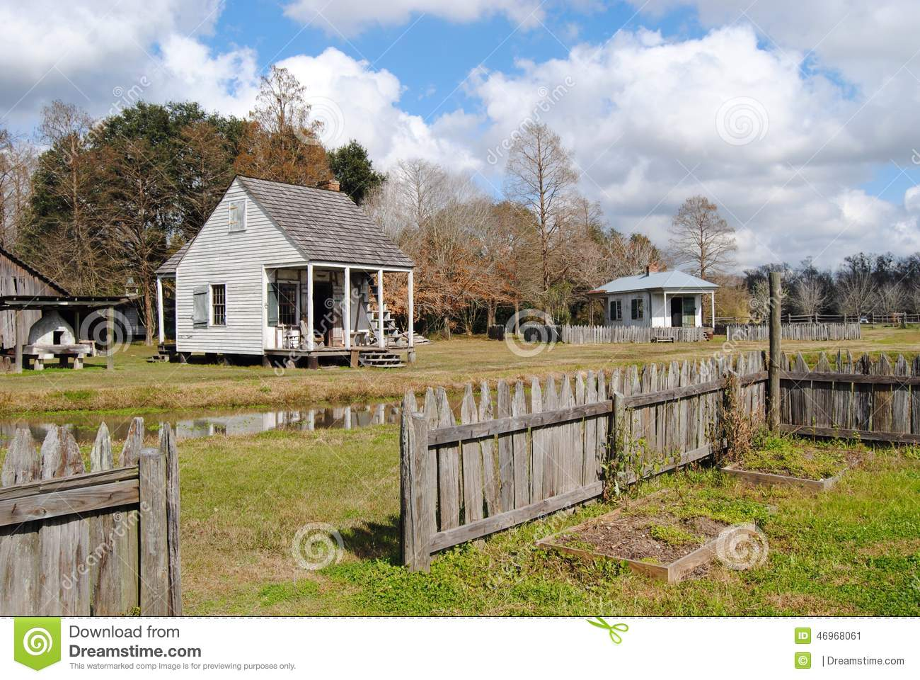 Old country cottage stock photo image 46968061 Tudor style fence