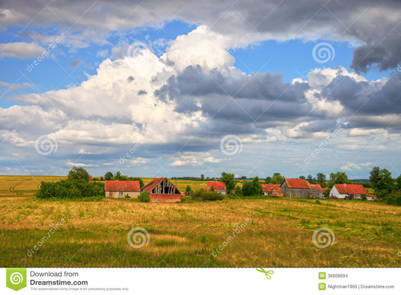 Old Country Farm Stock Images Image 36606694
