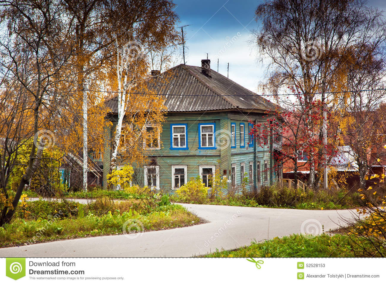 Old Country House Stock Photo Image 52528153