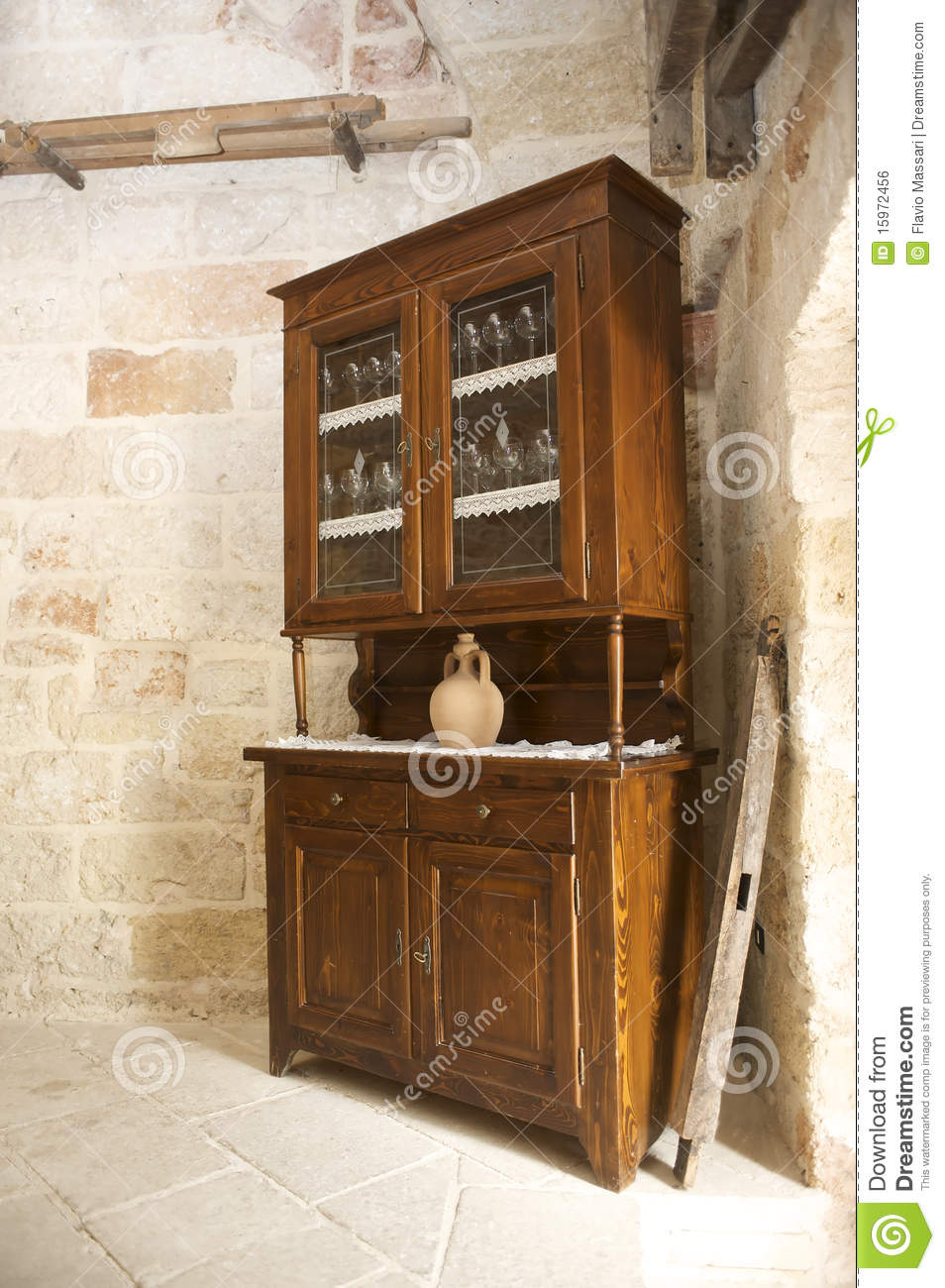 Old country style cabinet stock photo. Image of view - 15972456