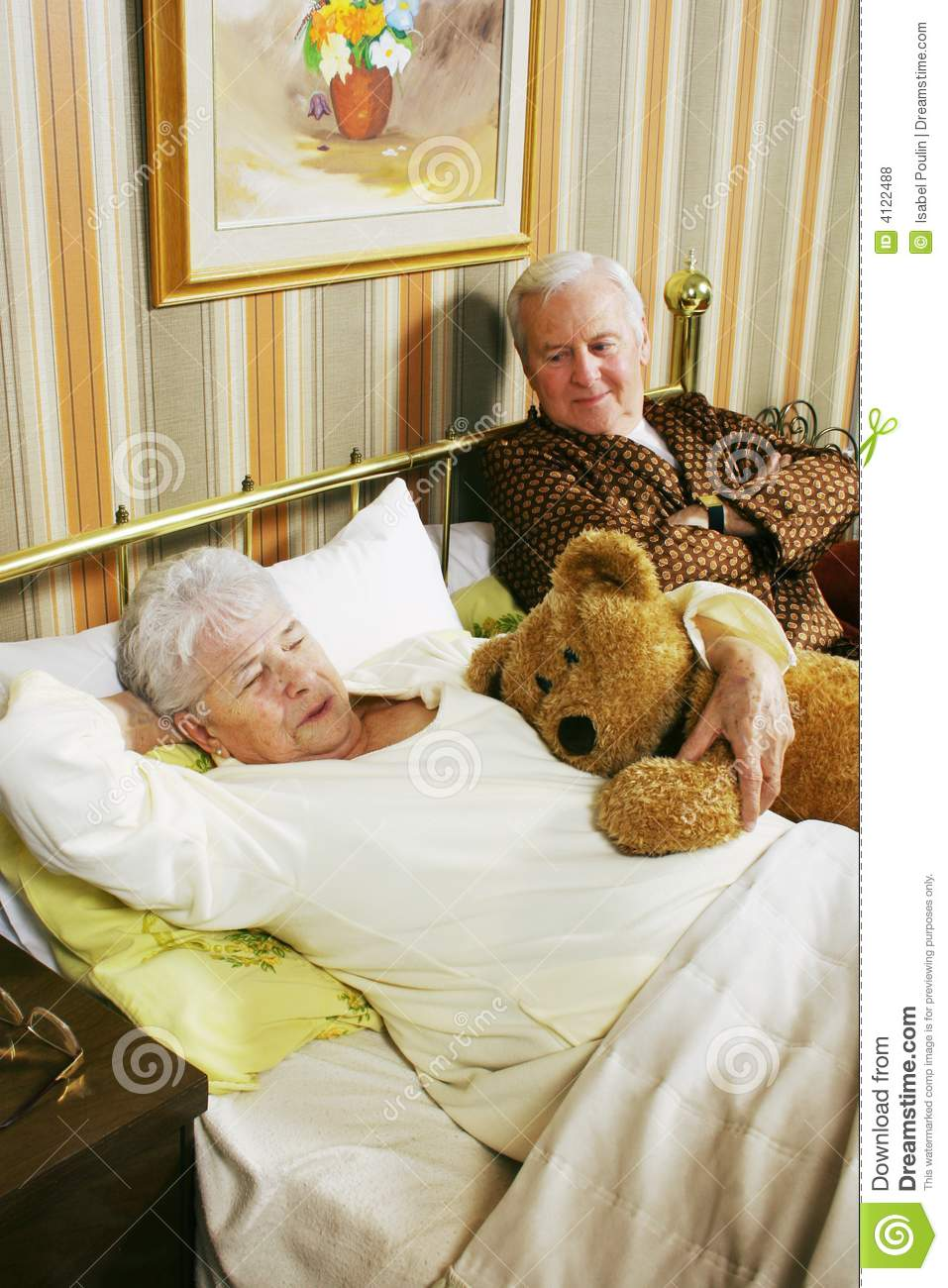 Old Couple In Bed Royalty Free Stock Photos Image 4122488