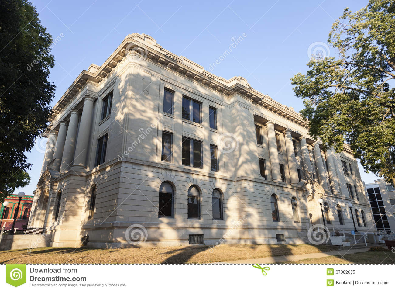 Pekin (IL) United States  city pictures gallery : Old Courthouse In Pekin, Tazewell County Royalty Free Stock Photo ...