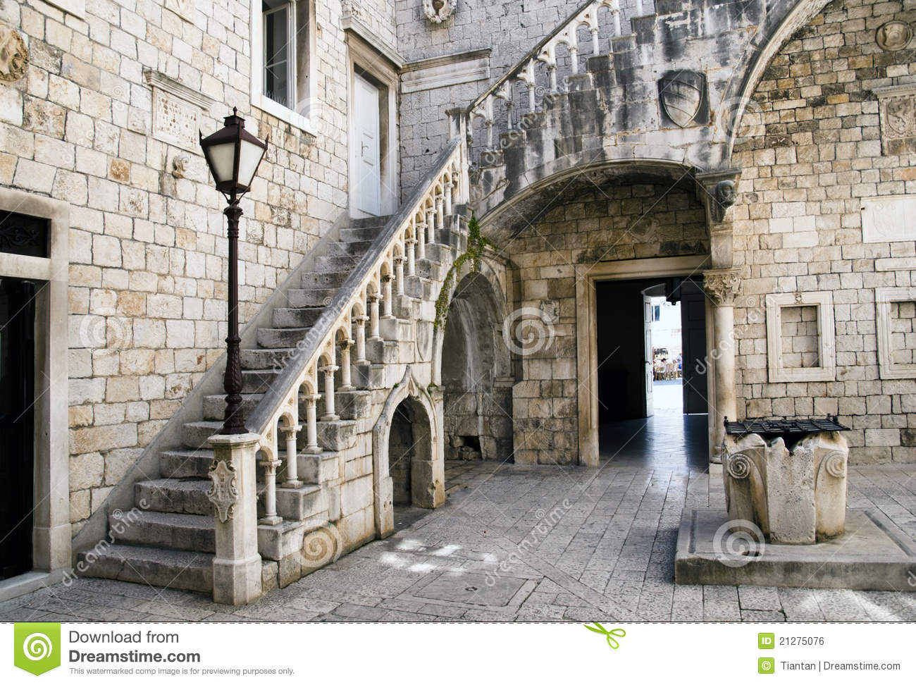 Old Courtyard Royalty Free Stock Image - Image: 21275076