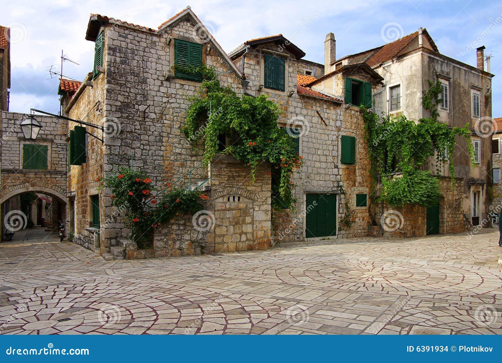 Old Courtyard on the Starigrad, Croatia