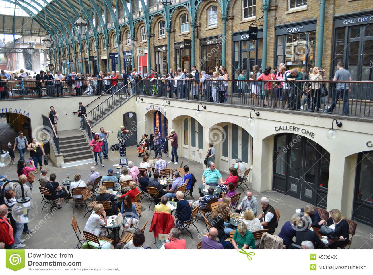 Old Covent Garden Market Editorial Stock Photo Image Of Busker 45332493