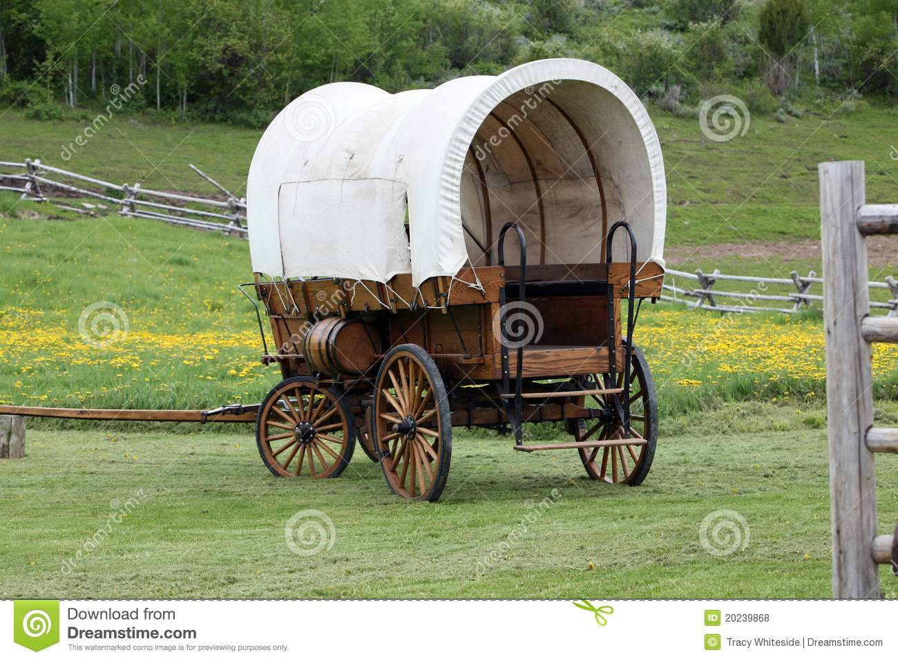 Old Covered Wagon Stock Photo. Image Of Rustic