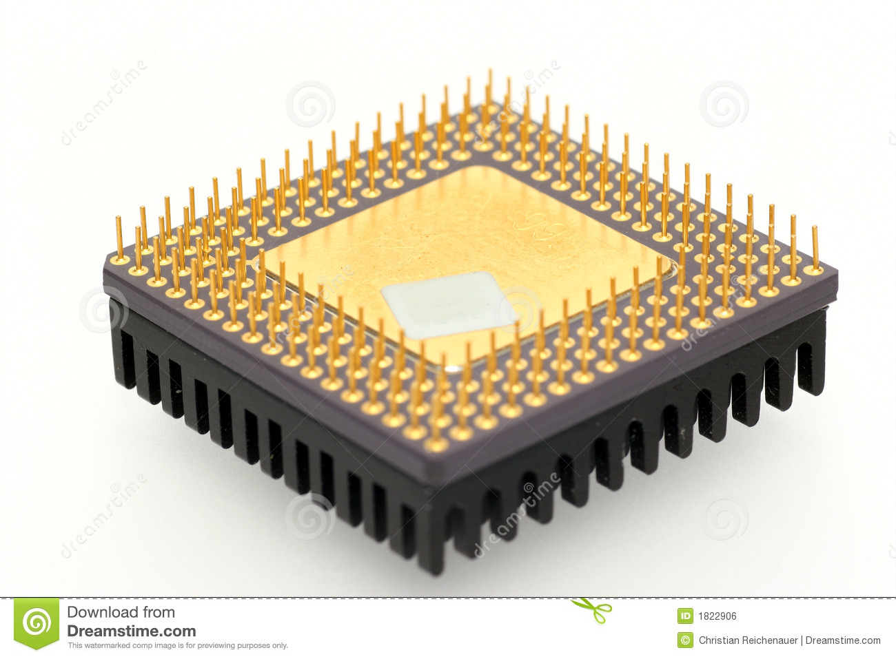 Download Old CPU stock photo. Image of pins, white, isolated, pentium - 1822906